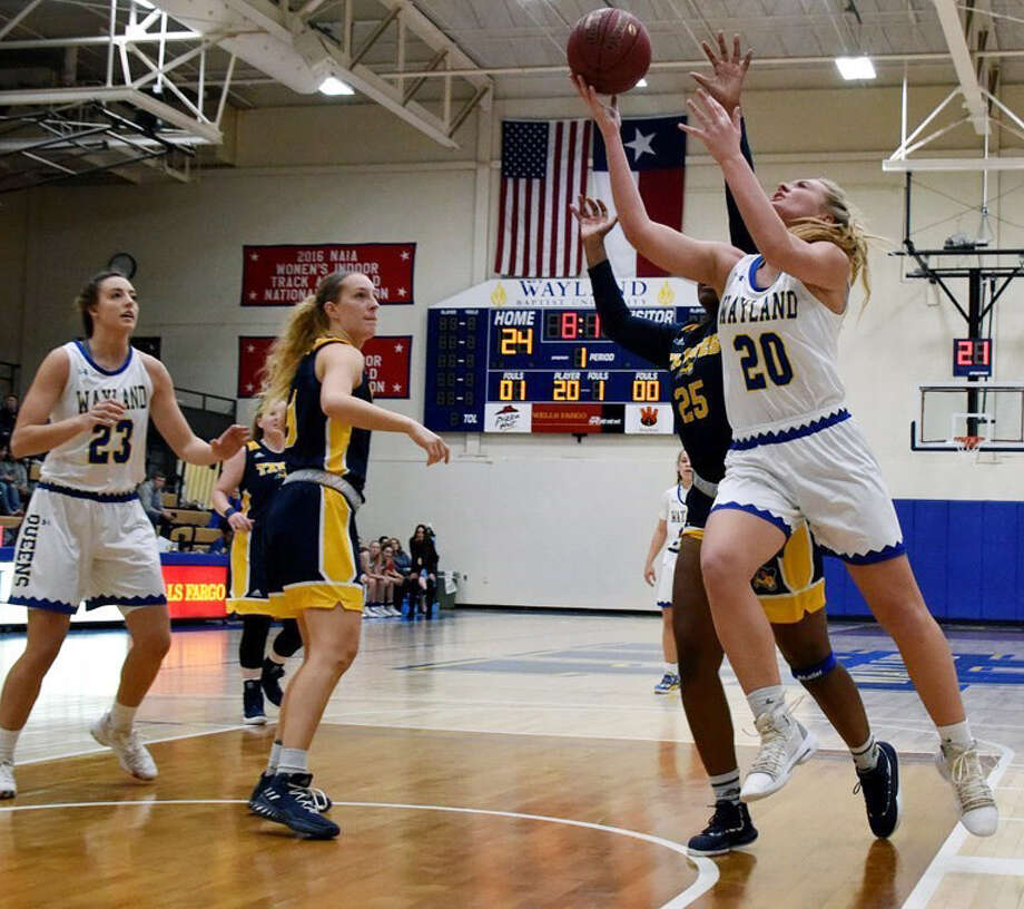 Senior post Deborah VanDijk is closing in on the 1,000 career-point club as she and the Wayland Baptist Flying Queens eye a run at a national championship. Photo: Claudia Lusk/Wayland Baptist Athletics