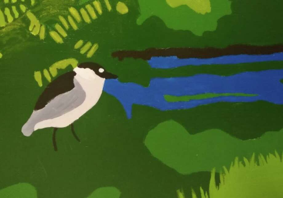 Part of a mural to be installed Oct. 26 at the Stewart B. McKinney Wildlife Refuge in Stratford. Photo: Contributed
