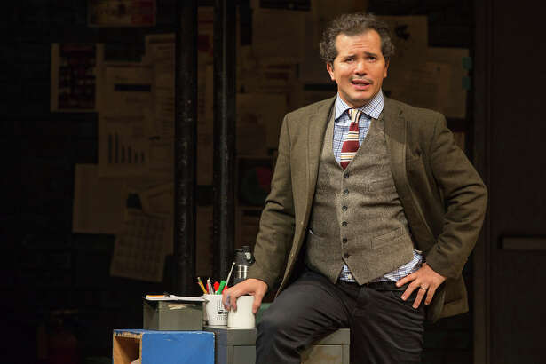 "This image released by Polk & Co. shows John Leguizamo during a performance of his one-man show ""Latin History for Morons."" Leguizamo returns to the Emmy Awards as a nominee for his performance in the Netflix docudrama ""When They See Us."" He is currently in Los Angeles at the Ahmanson Theatre for a six-week run of his Tony-nominated one-man show ""Latin History for Morons,"" in which he offers an eye-opening lesson about the participation of Latin Americans throughout U.S. history."