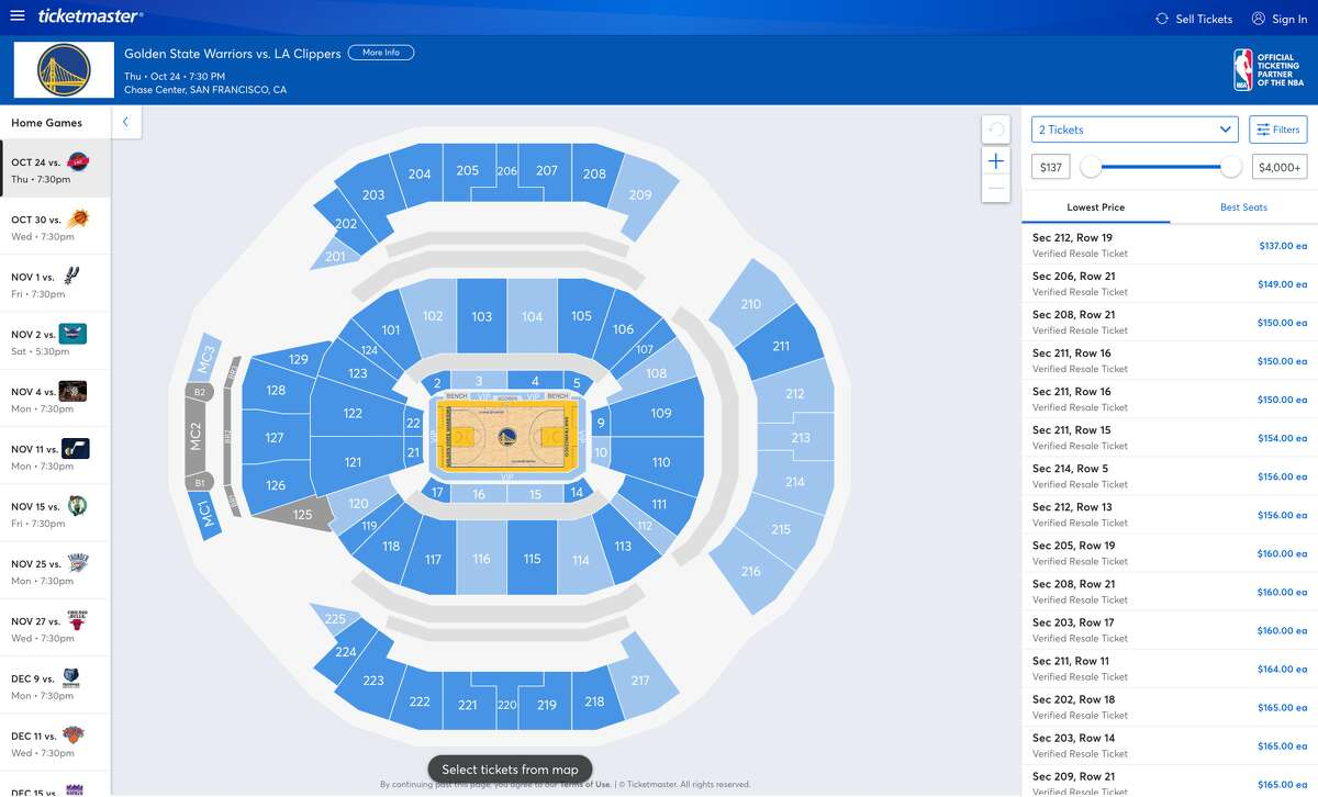 The cheapest Warriors home opener tickets are selling for $137 on Ticketmaster.