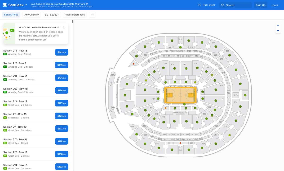 The cheapest Warriors home opener tickets are selling for $141 on SeatGeek.