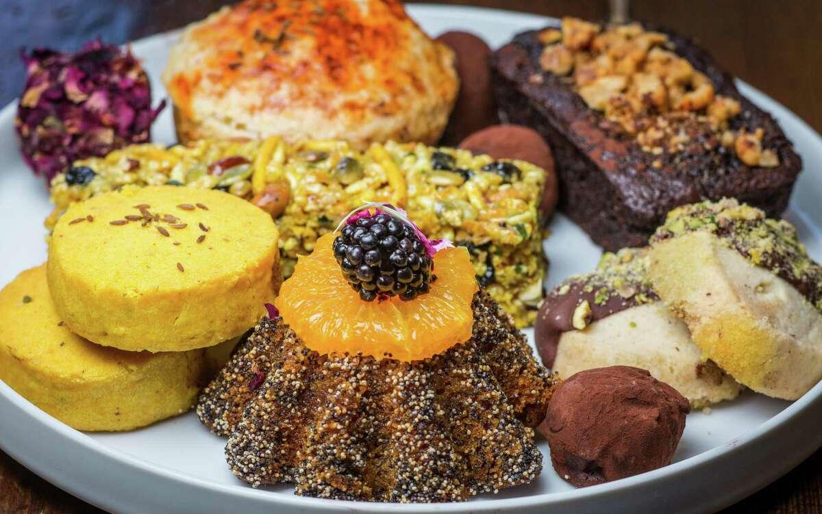 Assorted pastries at Pondicheri