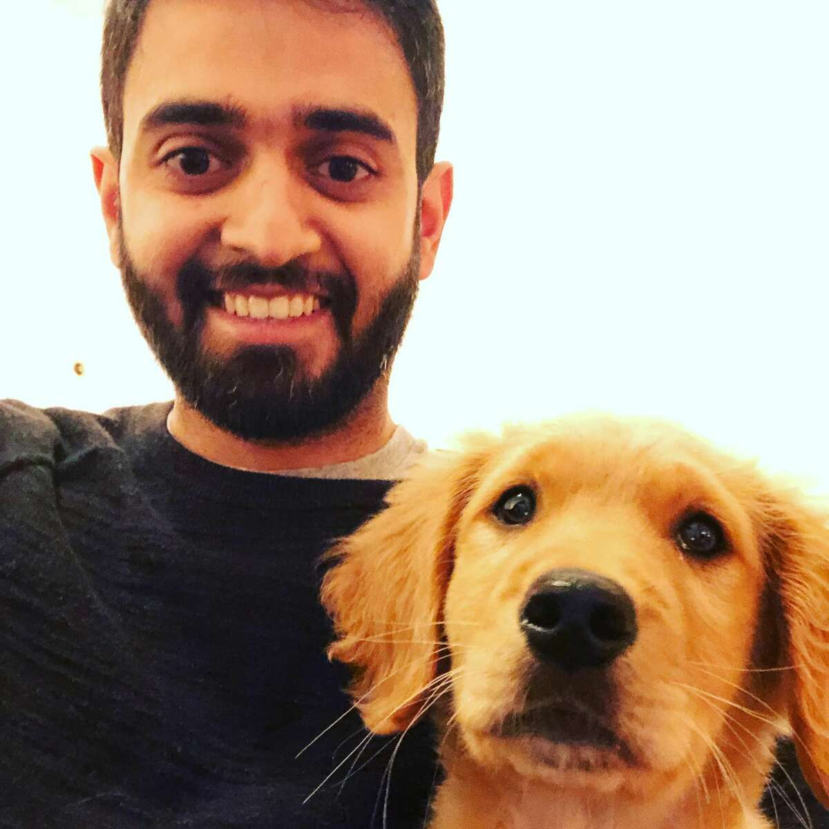 While the cost of owning a dog in San Francisco can range from a few hundred to a few thousand dollars a month, not one dog owner I spoke to said it wasn't worth it. Just make sure you're financially secure enough first. Pictured: Buster and his owner Nitin Rao.