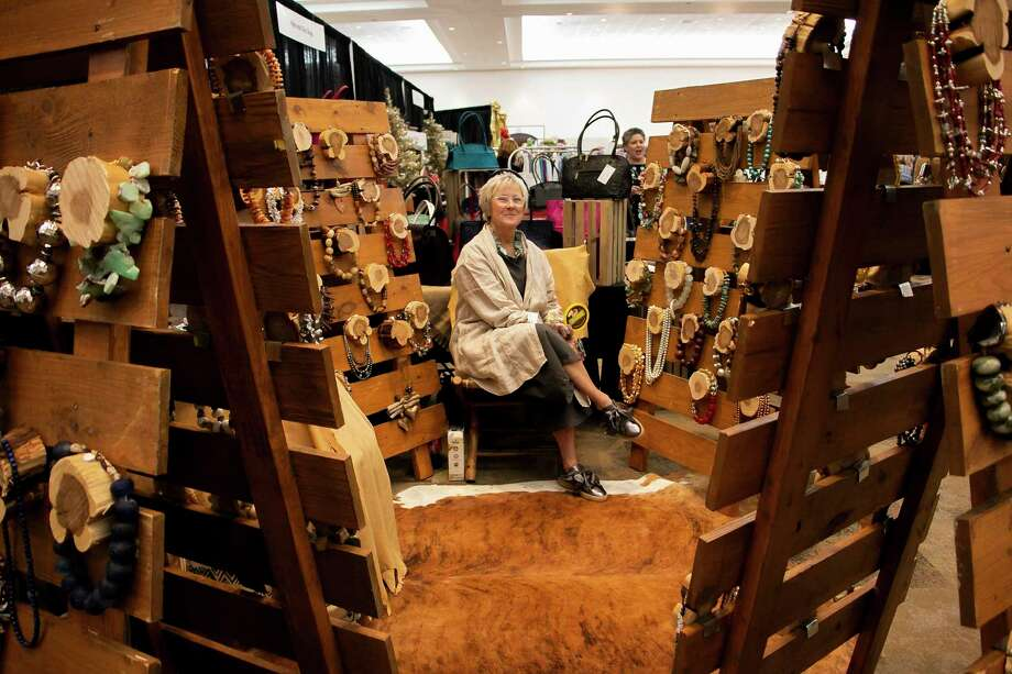 Ruby Goodwin Hemenway, owner of Jewelry Designs by Goodwin, said she has been a seller at the Kingwood Women's Club 22nd annual Holiday Market for many years. Photo: Savannah Mehrtens/Staff Photo / Savannah Mehrtens/Staff Photo