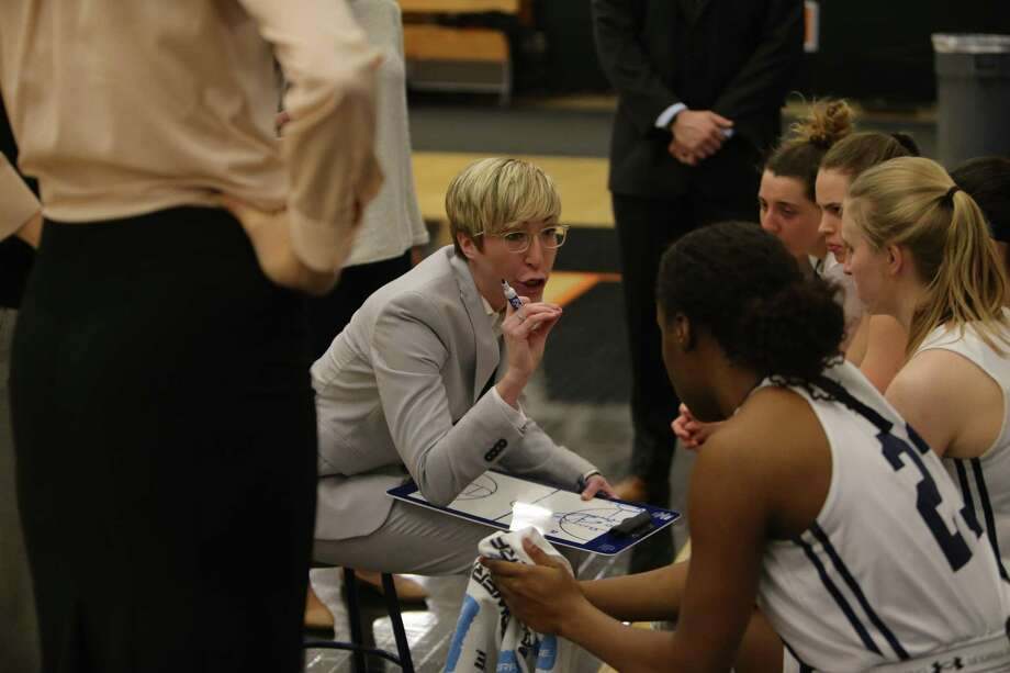 Yale women's basketball coach Allison Guth, whose team was picked to finish fourth in the conference. Photo: Yale Athletics / Contributed Photo