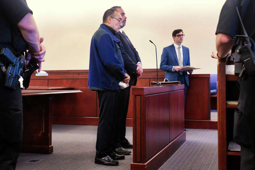 Convicted sex offender, Angel Garcia, appears in Albany County Court to surrender and to begin serving his sentence on Wednesday, Oct. 23, 2019, in Albany, N.Y. (Paul Buckowski/Times Union)