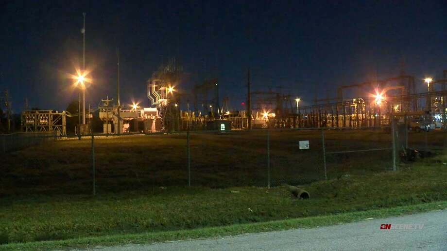 Centerpoint Energy N. Houston facility where an employee suffered an electric shock injury. Photo: Onscene.tv