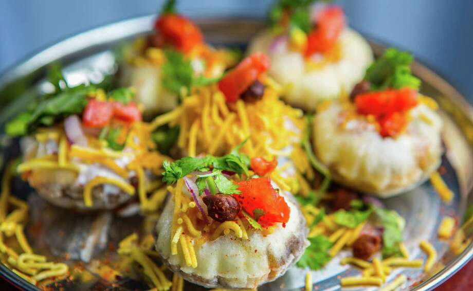 Pictured: Dahi puri at Shri Balaji Bhavan Shri Balaji Bhavan made our list of Alison Cook's Best 100 Restaurants for less than $20.  >>Click through the gallery to see more restaurants where you can dine finely... on the cheap. Photo: Nick De La Torre / Houston Chronicle / © de la Torre Photos LLC