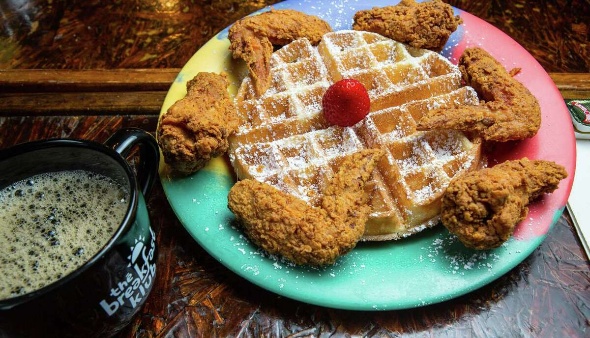 Wings and waffles at The Breakfast Klub