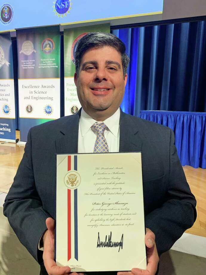 Mr. Shanazu received the Presidential Awards for Excellence in Mathematics and Science Teaching in Washington, D.C. Photo: Contributed Photo