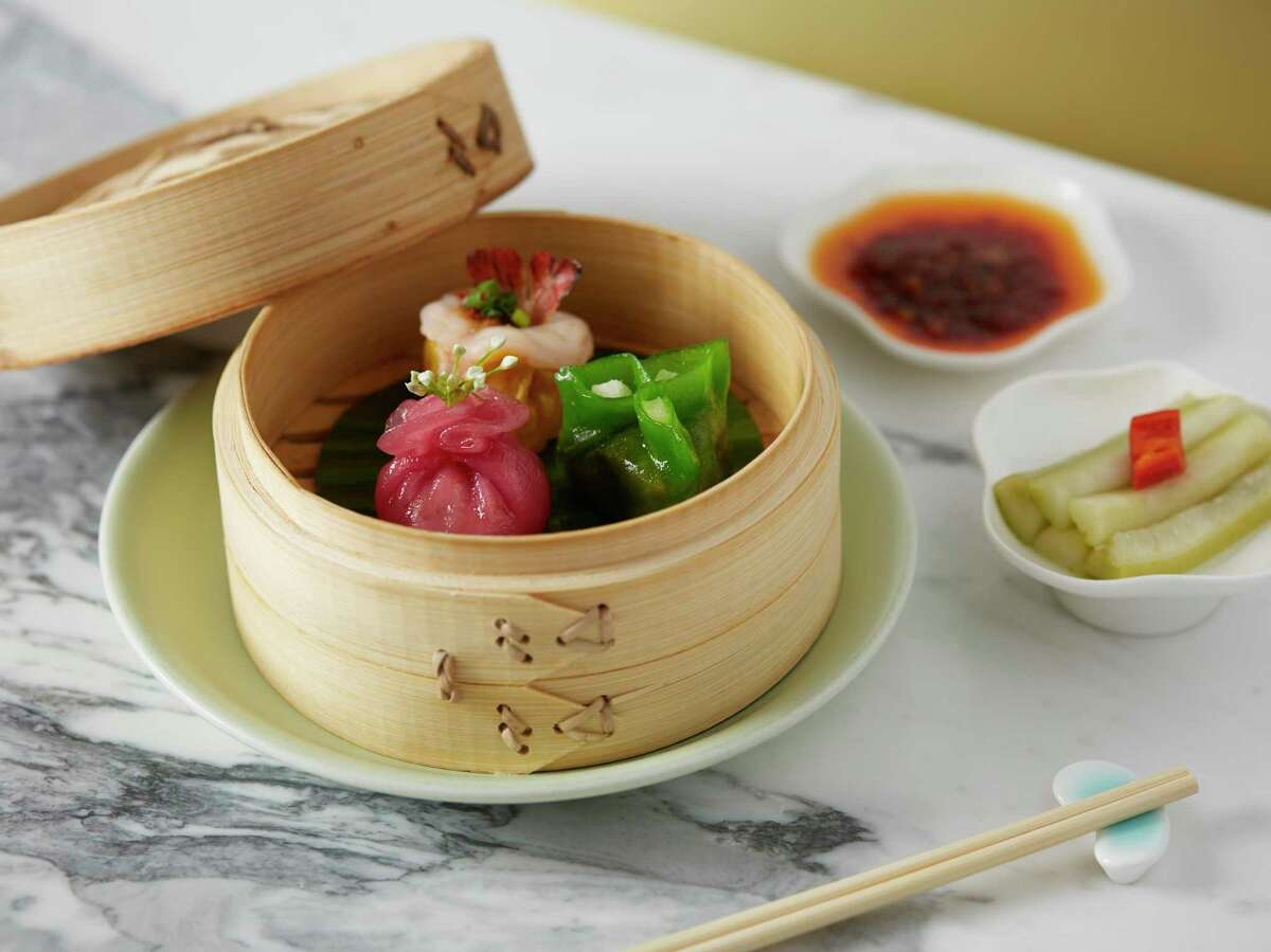 Spicy scallop dumpling, wild mushroom dumpling and pork and prawn shui mai at Yauatcha, which will close its Galleria restaurant in Feburary 2020.