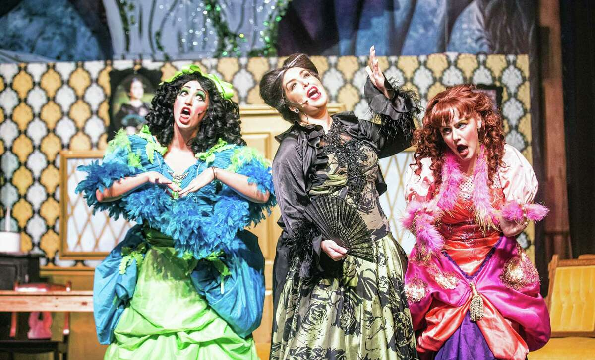 """From left Alexandra Casey plays Joy, Christina Sato plays the Stepmother,and Madison Mapes plays Grace in Stage Right's """"Cinderella."""" Mapes has been cast in Stage Right's """"Peter Pan."""""""