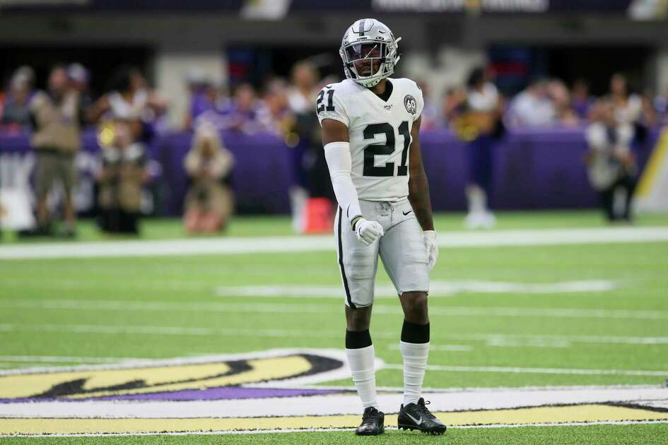 Oakland Raiders cornerback Gareon Conley walks on the field during the first half of an NFL football game against the Minnesota Vikings, Sunday, Sept. 22, 2019, in Minneapolis. (AP Photo/Jim Mone)