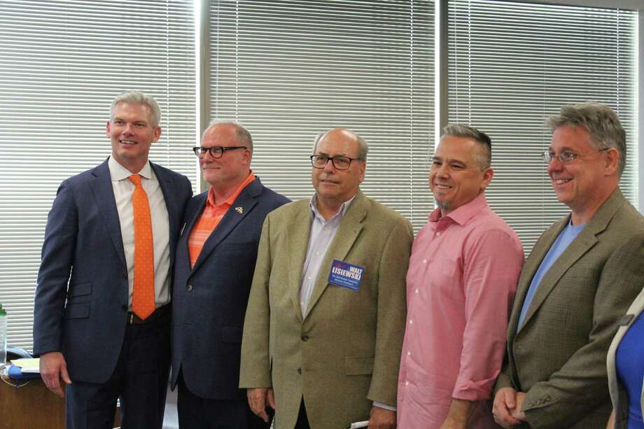 Ten of the 11 candidate for the three open seats on The Woodlands Township Board of Directors election were on hand Tuesday, Oct. 15, at a forum hosted by The Woodlands Area Chamber of Commerce. Photo: Images By Jeff Forward/The Villager / Images By Jeff Forward/The Villager
