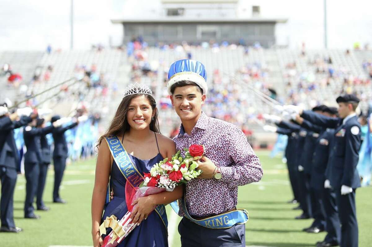 Klein Collins High School's homecoming king and queen, Jacob Evangelista and Riley Keck.
