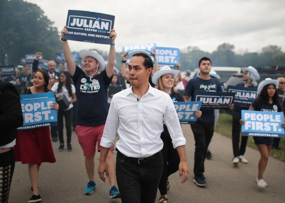 Julián Castro will not be on stage at Thursday night's Democratic primary debate, but the former San Antonio mayor still intends to be heard. Photo: Scott Olson // Getty Images