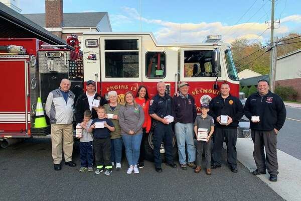 Seymour Fire Department members and members of Carney Strong