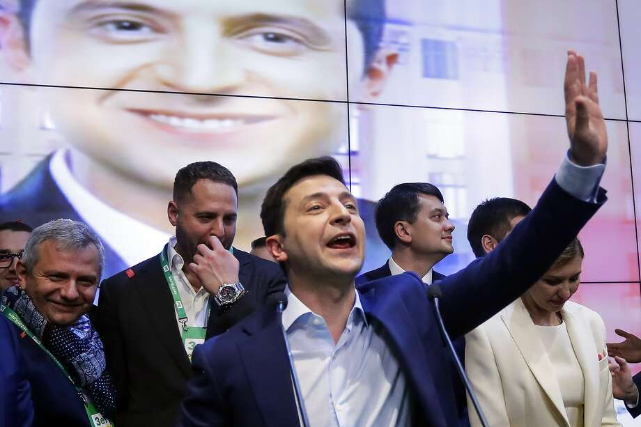 Several accounts show that then-president-elect Volodymyr Zelensky was wary of President Trump's push for an investigation into his Democratic rival Joe Biden and his son Hunter. Photo: Sergei Grits / Associated Press