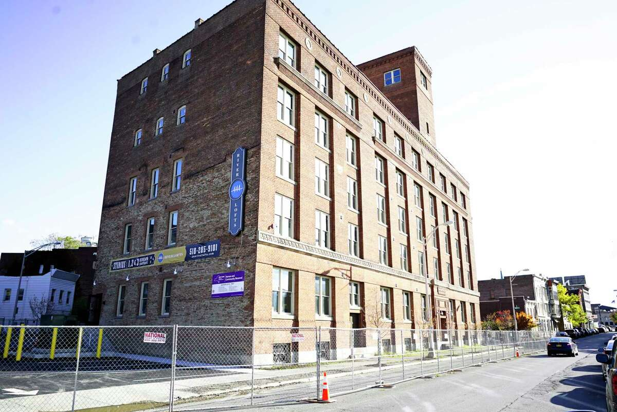 A view of 444 River Lofts on Wednesday, Oct. 23, 2019, in Troy, N.Y. This is the former Marvin Neitzel building which is being redeveloped into apartments. (Paul Buckowski/Times Union)