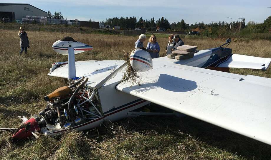 The plane's two occupants walked away with just a few bumps and bruises. Photo: Courtesy KOMO