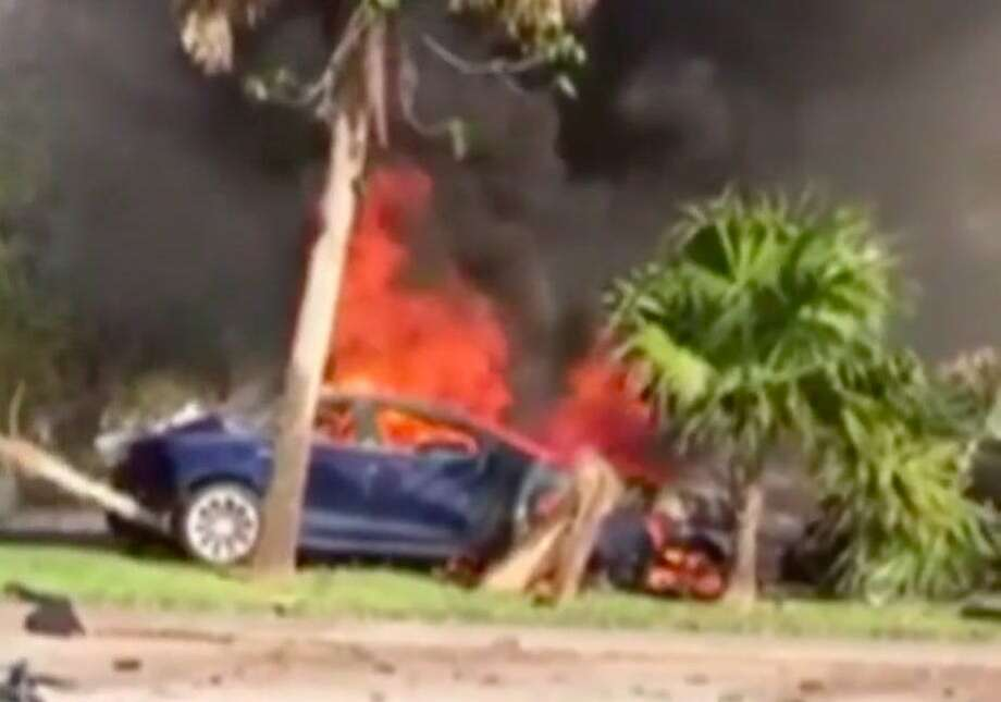Omar Awan was driving a leased Tesla in south Florida when he lost control of the vehicle and died in the crash in Feb. 2019. Photo: WPLG Local 10