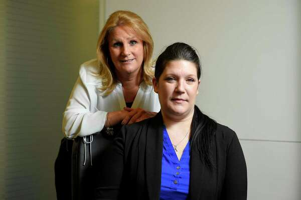 Lynne Maille and Jessica Bianco, both victims in a sexual harassment case against the Connecticut judicial branch are photograph on Sept. 20, 2019 at their lawyers office in Mid-town Manhattan.