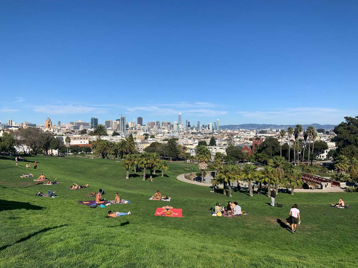 San Francisco was in the balmy 80s on Oct. 22, 2019. Pictured: Dolores Park.