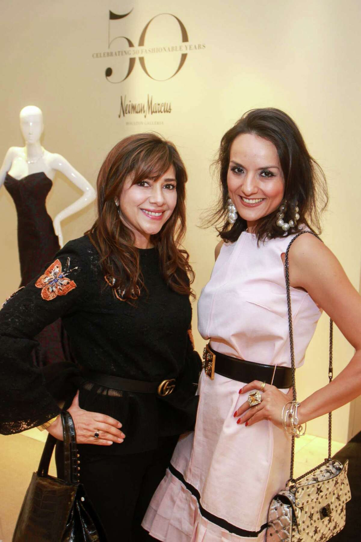 Blanca Jolly, left, and Luisa Nadarajah at the Zac Posen event at Neiman Marcus in Houston on October 23, 2019.