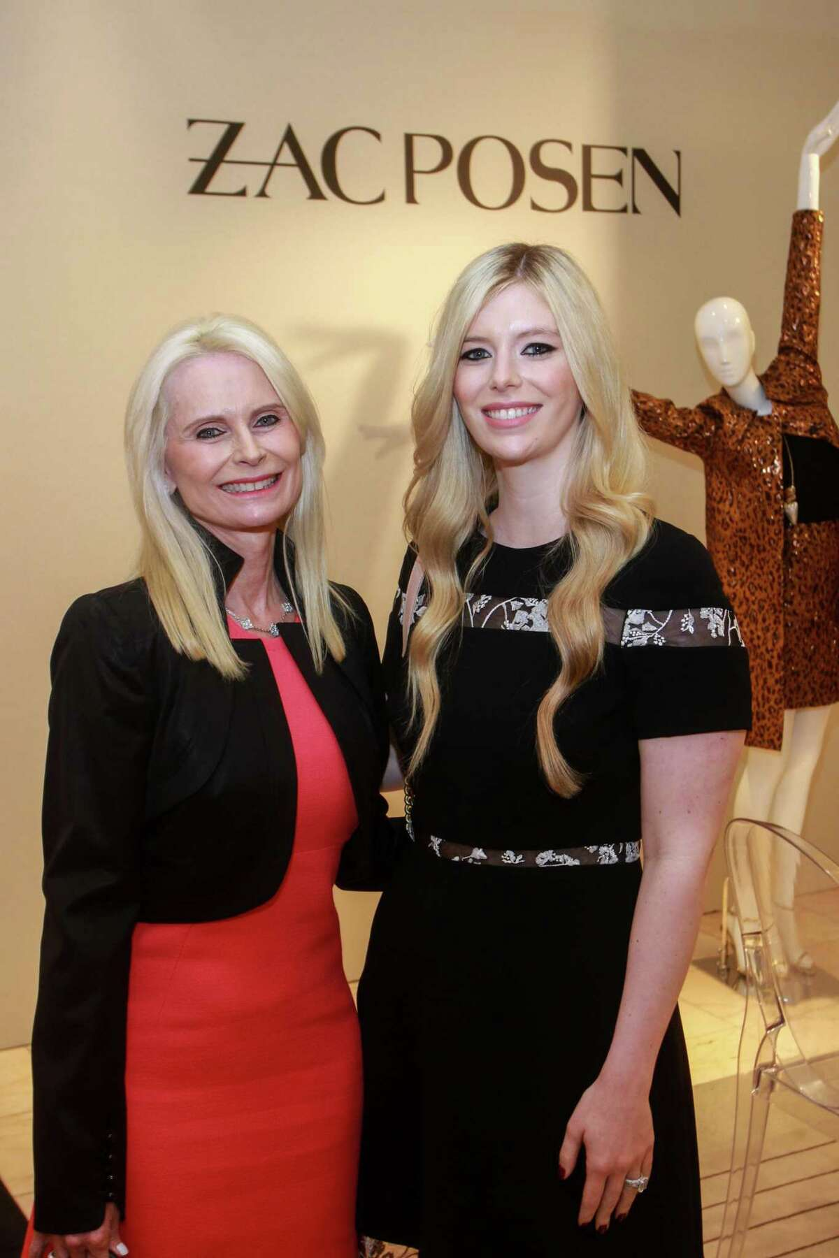 Jo Lynn Falgout, left, and Kimberly Falgout Scheele at the Zac Posen event at Neiman Marcus in Houston on October 23, 2019.