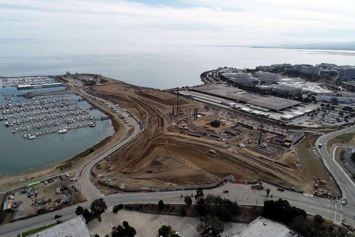 Construction is seen at Kilroy Oyster Point in South San Francisco, where Stripe leased a new headquarters.
