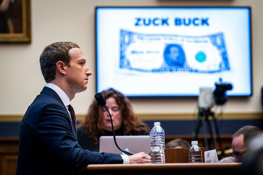 Facebook CEO Mark Zuckerberg testifies at a House Financial Services Committee hearing on cryptocurrency and other topics. Photo: Pete Marovich / New York Times