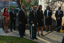 Maya Rockeymoore Cummings and other relatives of the late congressman arrive Oct. 23, 2019, at Morgan State University in Baltimore.