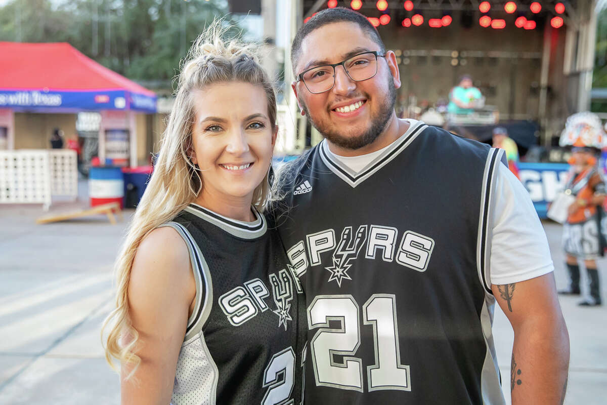 Spurs fans were ready to cheer on their team as the San Antonio Spurs opened the season against the New York Knicks Wednesday Oct. 23, 2019.