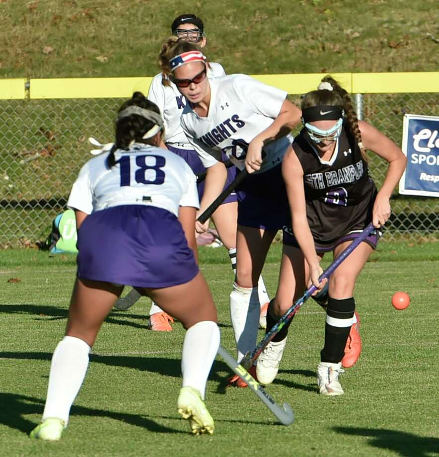 Westbrook, Connecticut - Wednesday, October 23, 2019: Westbrook H.S. field hockey vs. North Branford H.S. during the second half and overtime of field hockey Wednesday afternoon at Westbrook H.S. Final tie score 2-2 in overtime. Photo: Peter Hvizdak / Hearst Connecticut Media / New Haven Register