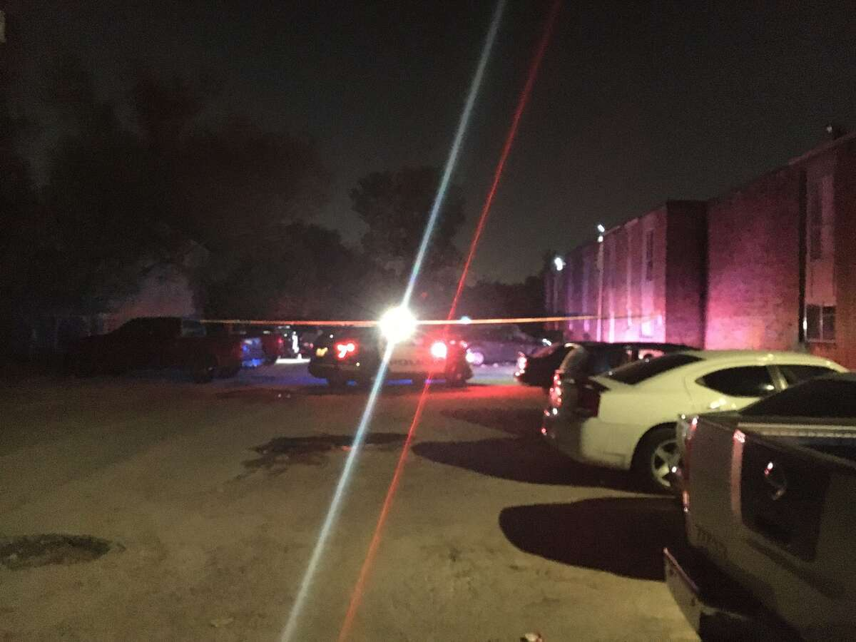 A man was killed and another injured Wednesday night in a shooting in north Houston, police said.