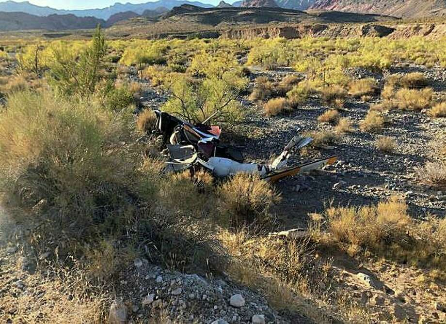 A Connecticut pilot was killed when the rented helicopter he was flying went down in Red Rock Canyon, Nevada, on Wednesday, Oct. 23, 2019. The unidentified Connecticut man was 53 years old and had rented helicopters from Binner Enterprises in Nevada in the past, according to reports Photo: Nevada Highway Patrol