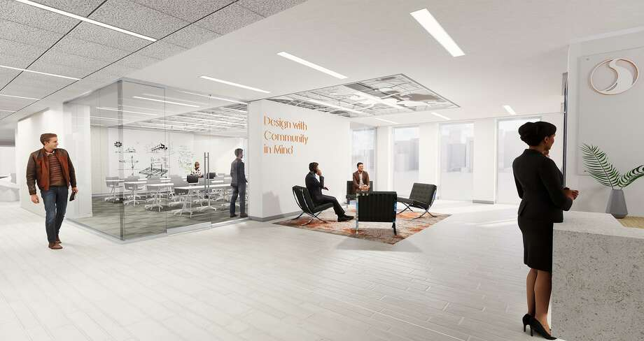 Stantec's new office on the 26th floor of One Shell Plaza brings together employees fromthe firm's water, buildings, oil and gas, community development and transportation groups. Photo: Stantec