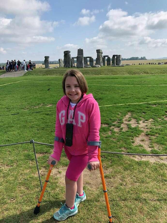 The author's daughter, Chloe, at Stonehenge in Salisbury, England. Photo: Photo For The Washington Post By Alexandra Pecci / The Washington Post