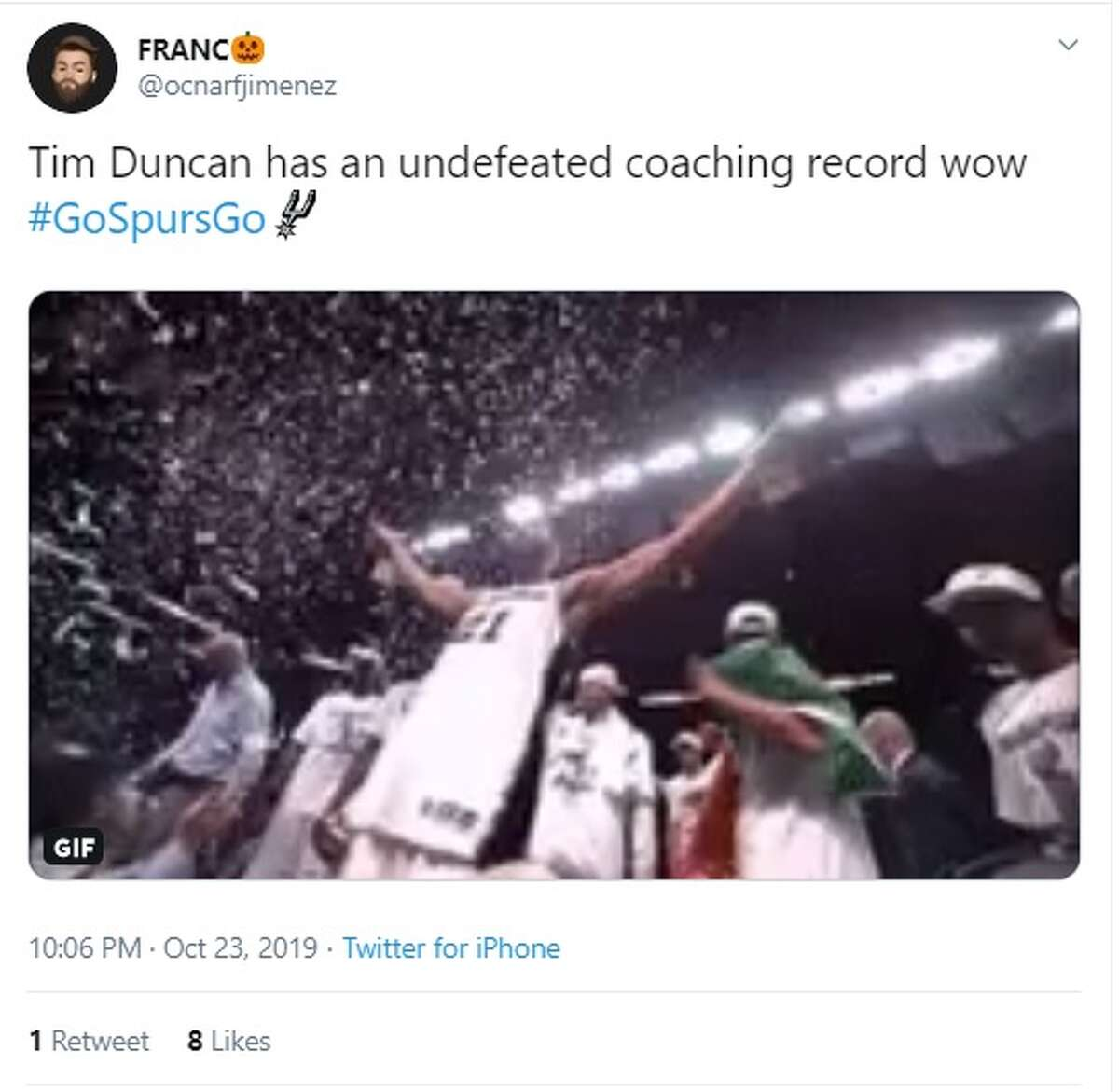 San Antonio Spurs fan share their excitement on Twitter after the Spurs beat the New York Knicks 120-111.