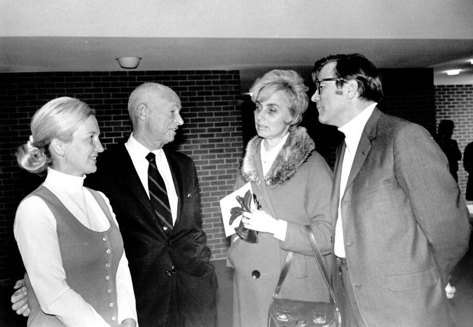 Ester and Carl Gerstacker, left, and Terry and Bronson Harris. Midland Center for the Arts, circa 1971. (Thanks to Susan Dersnah Fee for help with identification.) Photo: Daily News File Photo