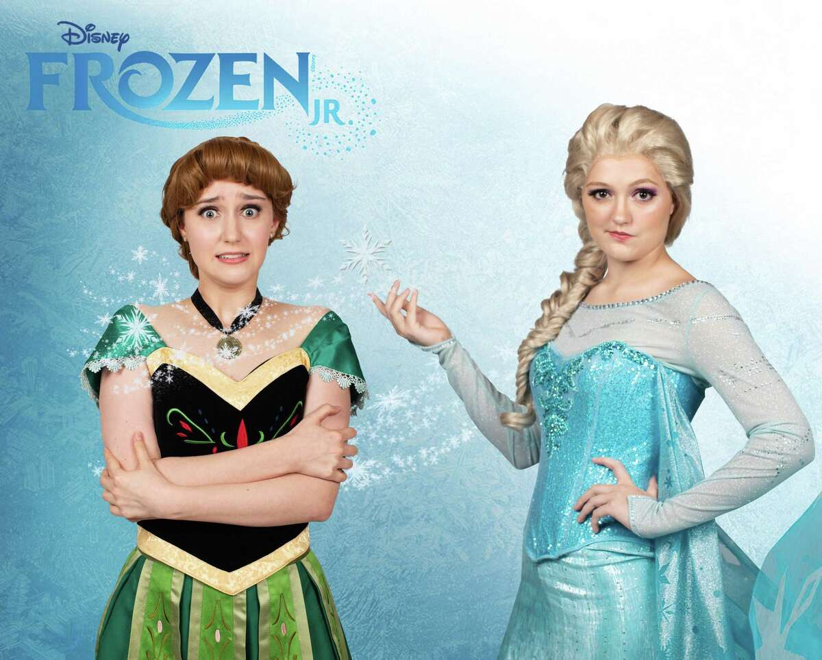 Pictured are Sarah Yeates as Anna and Madeline Driver as Elsa in Christian Youth Theatre's