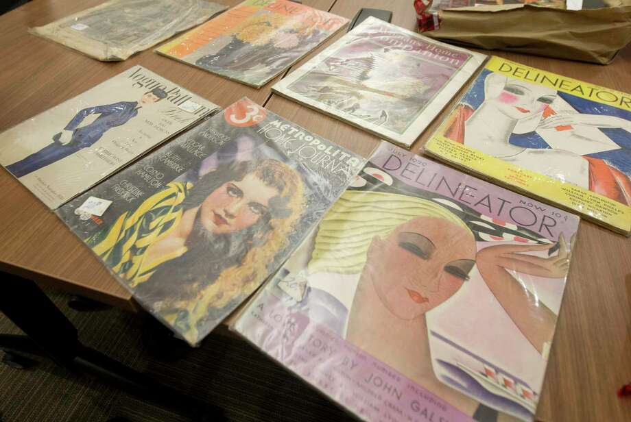 Officers found a homeless man in possession of vintage magazines, some dating back to 1919, and books and are hoping to find the owner of the unique collection. Photo: Jason Fochtman, Houston Chronicle / Staff Photographer / Houston Chronicle