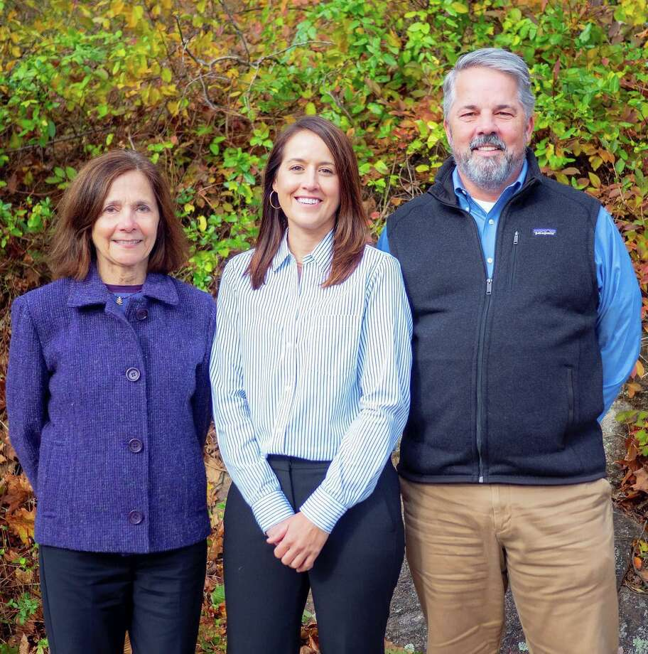 The Long Ridge Shcool announced a new Head of School Thursday, Oct. 25. From left to right: Kris Bria, former Head of School, Carissa Lewis, new Head of School-elect, and John Ora, current Interim Head of School. Photo: Contributed / Contributed Photo / Westport News contributed