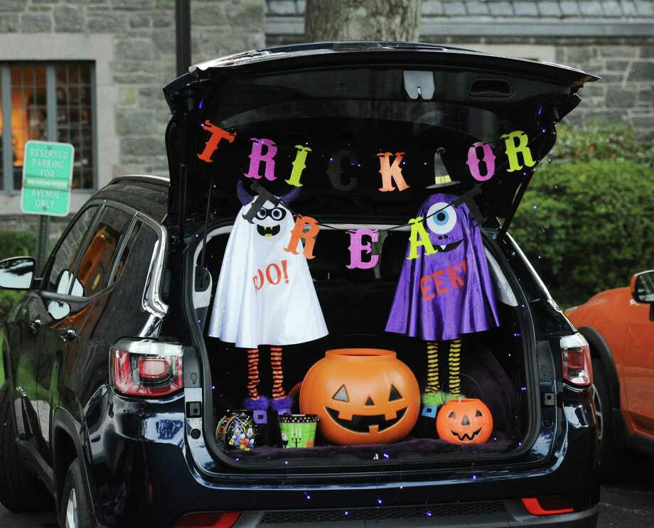 """Kids can go car-to-car for the """"Trunk or Treat"""" event at the First Congregational Church in Old Greenwich — a safe, family-friendly Halloween event. Photo: File / Hearst Connecticut Media / Greenwich Time"""