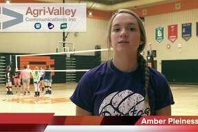 Amber Pleiness of the Harbor Beach volleyball team.