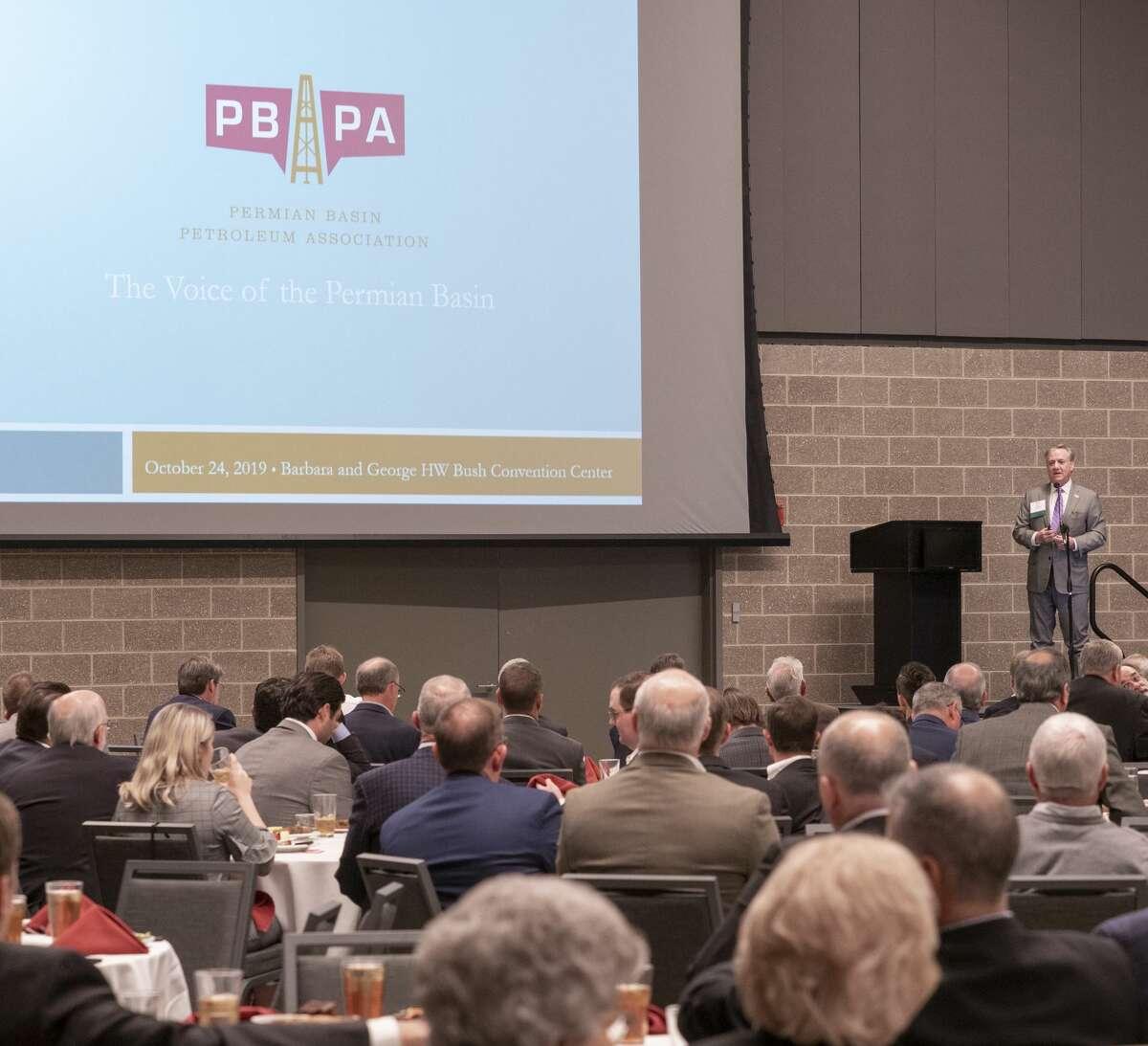 Ben Sheppard, president of PBPA, speaks 10/24/19 during the Permian Basin Petroleum Association annual meeting luncheon. Tim Fischer/Reporter-Telegram