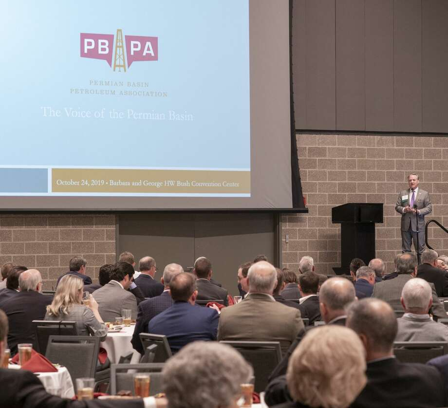 Ben Sheppard, president of PBPA, speaks 10/24/19 during the Permian Basin Petroleum Association annual meeting luncheon. Tim Fischer/Reporter-Telegram Photo: Tim Fischer/Midland Reporter-Telegram
