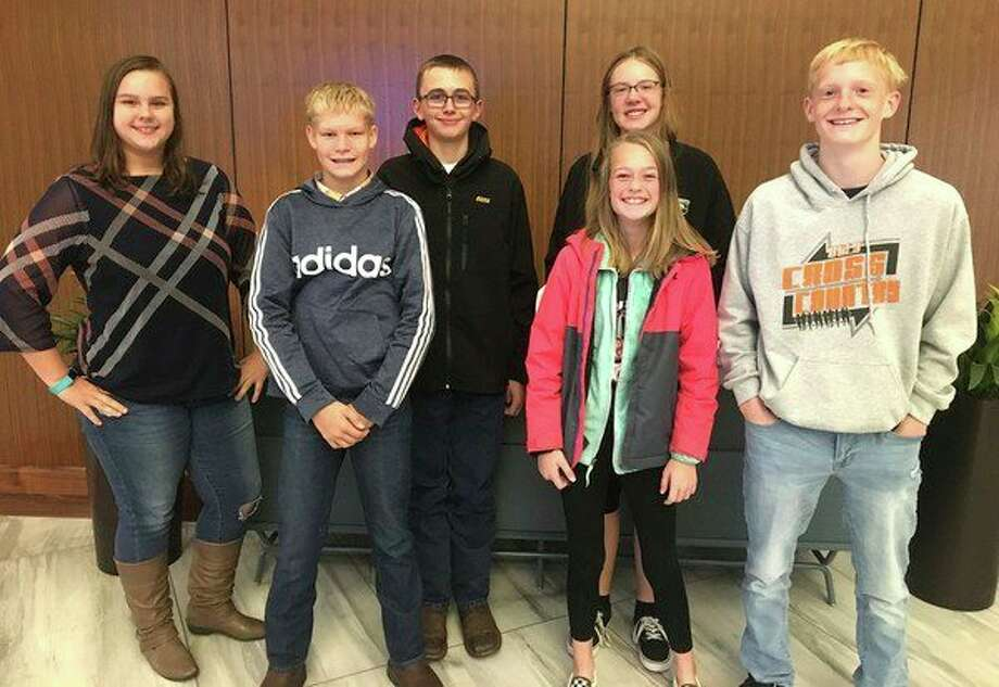 Ubly FFA members who attended a recent leadership conference are, from left, Micaela Jock, Trenton Lautner, Caiden Parker, Morgan Schulte, Abigail Guza and Andrew Vogel. (Submitted Photo)