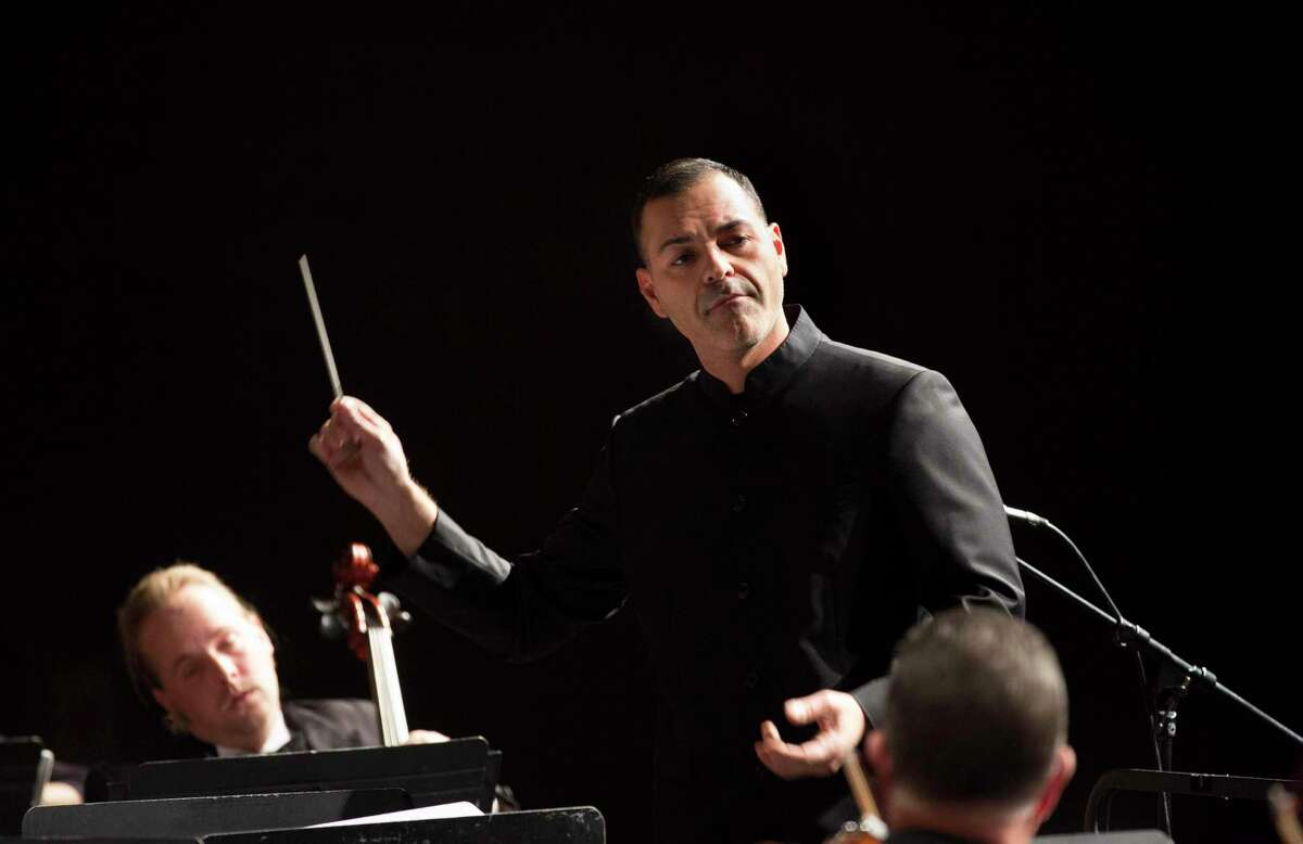 The Conroe Symphony Orchestra is lead by Music Director and Conductor for the symphony Dr. Jacob Sustaita. He's pictured here at the first show of the CSO season in October. Amid concerns over the spread of the coronavirus, the CSO has canceled their April 18 concert.