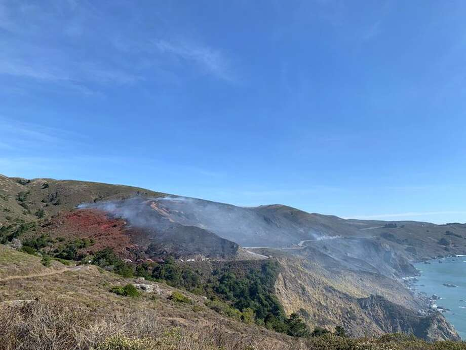 A wildfire broke out in Marin County near Stinson Beach on Thursday, Oct. 24, 2019. Photo: Marin County Fire/ Twitter